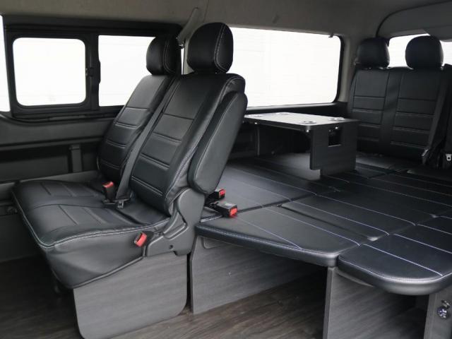 GL ロング 新車/内装架装Ver1 フルセグナビ/サブモニター/フリップダウンモニター 黒木目インテリア Delfino Lineフロントエアロ/オーバーフェンダー プレステージLEDテール(3枚目)