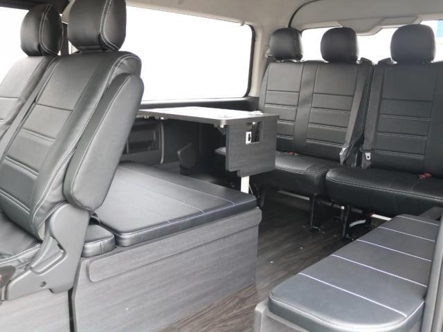 GL ロング 新車/内装架装Ver1 フルセグナビ/サブモニター/フリップダウンモニター 黒木目インテリア Delfino Lineフロントエアロ/オーバーフェンダー プレステージLEDテール(4枚目)