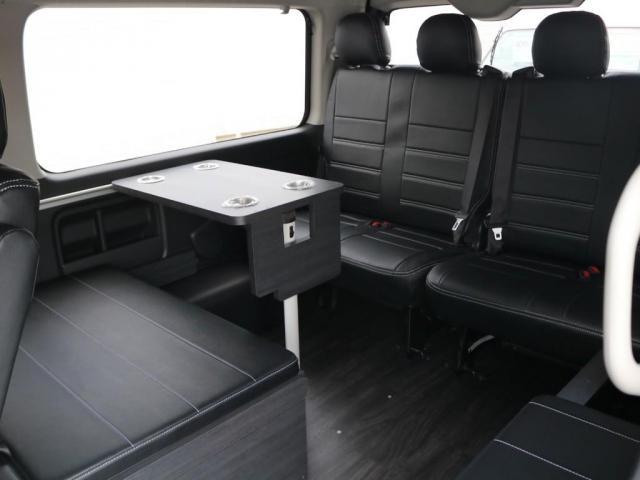 GL ロング 新車/内装架装Ver1 フルセグナビ/サブモニター/フリップダウンモニター 黒木目インテリア Delfino Lineフロントエアロ/オーバーフェンダー プレステージLEDテール(5枚目)