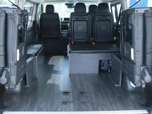 GL ロング 新車/内装架装Ver1 フルセグナビ/サブモニター/フリップダウンモニター 黒木目インテリア Delfino Lineフロントエアロ/オーバーフェンダー プレステージLEDテール(6枚目)