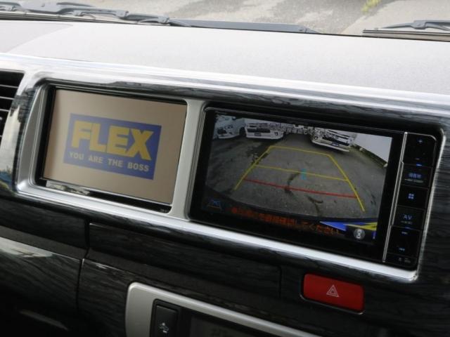 GL ロング 新車/内装架装Ver1 フルセグナビ/サブモニター/フリップダウンモニター 黒木目インテリア Delfino Lineフロントエアロ/オーバーフェンダー プレステージLEDテール(7枚目)