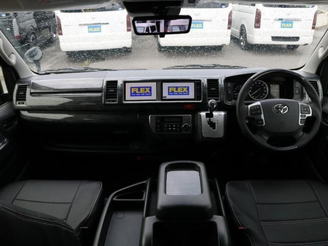 GL ロング 新車/内装架装Ver1 フルセグナビ/サブモニター/フリップダウンモニター 黒木目インテリア Delfino Lineフロントエアロ/オーバーフェンダー プレステージLEDテール(11枚目)