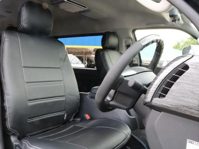 GL ロング 新車/内装架装Ver1 フルセグナビ/サブモニター/フリップダウンモニター 黒木目インテリア Delfino Lineフロントエアロ/オーバーフェンダー プレステージLEDテール(12枚目)