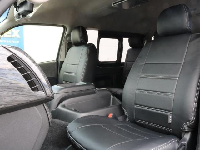 GL ロング 新車/内装架装Ver1 フルセグナビ/サブモニター/フリップダウンモニター 黒木目インテリア Delfino Lineフロントエアロ/オーバーフェンダー プレステージLEDテール(13枚目)
