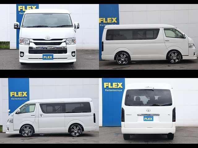 GL ロング 新車/内装架装Ver1 フルセグナビ/サブモニター/フリップダウンモニター 黒木目インテリア Delfino Lineフロントエアロ/オーバーフェンダー プレステージLEDテール(16枚目)