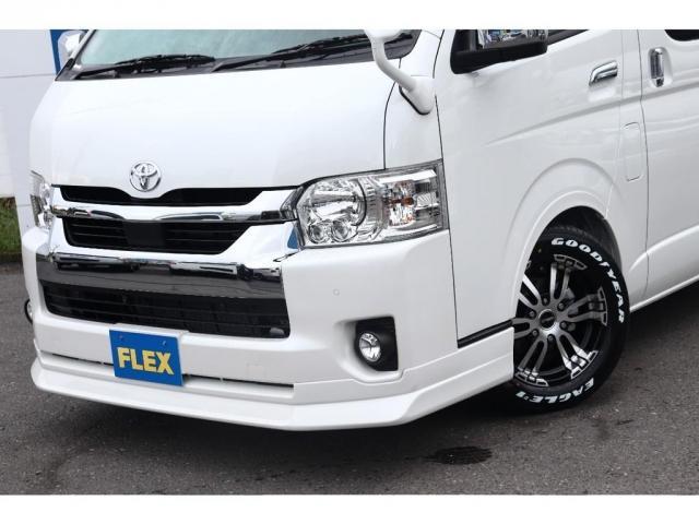 GL ロング 新車/内装架装Ver1 フルセグナビ/サブモニター/フリップダウンモニター 黒木目インテリア Delfino Lineフロントエアロ/オーバーフェンダー プレステージLEDテール(17枚目)
