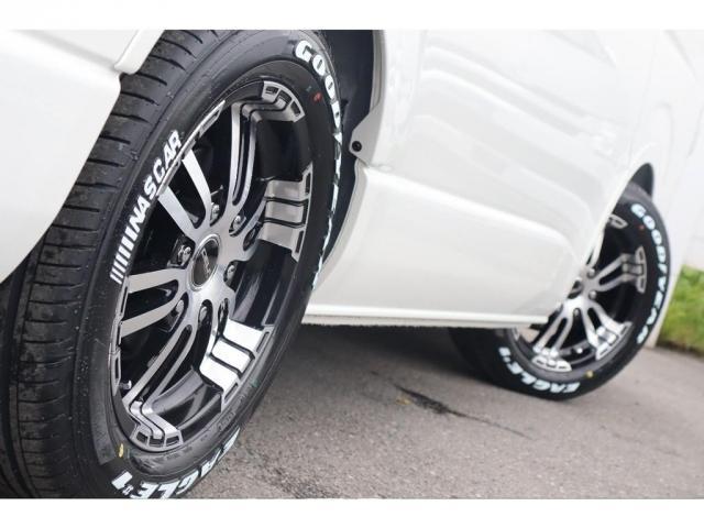 GL ロング 新車/内装架装Ver1 フルセグナビ/サブモニター/フリップダウンモニター 黒木目インテリア Delfino Lineフロントエアロ/オーバーフェンダー プレステージLEDテール(19枚目)