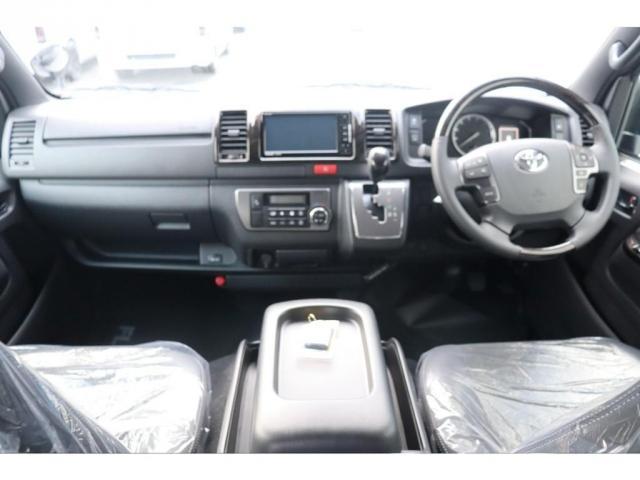 スーパーGL ダークプライムII 新車/フルセグナビパッケージ 小窓付 415コブラフロントエアロ FLEXオーバーフェンダー プレステージLEDテール 1.5インチダウン DELF02 17インチAW グッドイヤーナスカータイヤ(5枚目)