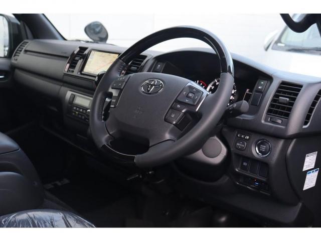 スーパーGL ダークプライムII 新車/フルセグナビパッケージ 小窓付 415コブラフロントエアロ FLEXオーバーフェンダー プレステージLEDテール 1.5インチダウン DELF02 17インチAW グッドイヤーナスカータイヤ(7枚目)