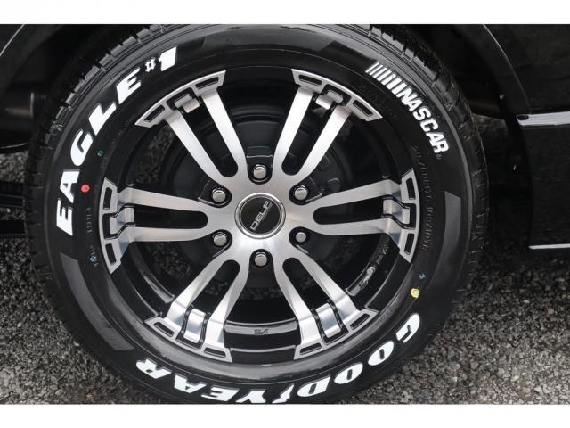 スーパーGL ダークプライムII 新車/フルセグナビパッケージ 小窓付 415コブラフロントエアロ FLEXオーバーフェンダー プレステージLEDテール 1.5インチダウン DELF02 17インチAW グッドイヤーナスカータイヤ(18枚目)