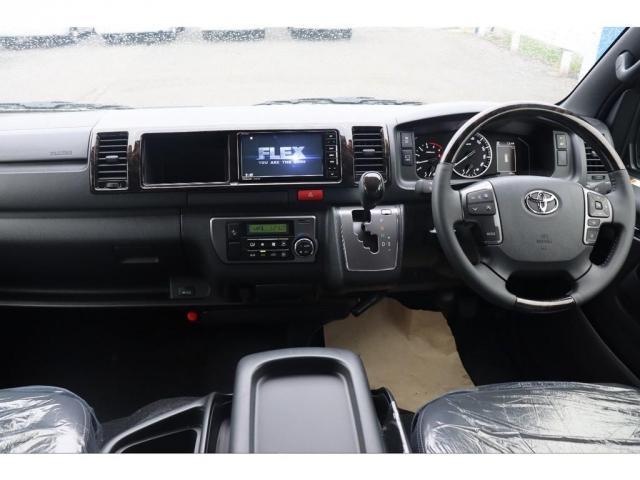 スーパーGL ダークプライムIIワイド ロングボディ 新車/ナビパッケージ 両側自動ドア 2800クリーンディーゼル パノラミックビューモニター インテリジェントクリアランスソナー トヨタセーフティー デジタルインナーミラー(5枚目)