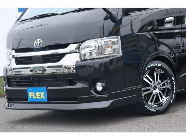 スーパーGL ダークプライムIIワイド ロングボディ 新車/FLEXカスタム フルセグナビ Delfino Lineフロントエアロ/オーバーフェンダー DELF02 17インチAW グッドイヤーナスカータイヤ 1.5インチローダウン(3枚目)