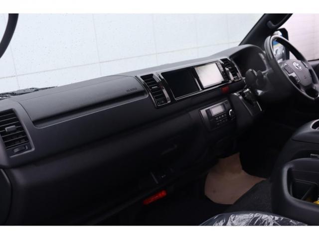 スーパーGL ダークプライムIIワイド ロングボディ 新車/FLEXカスタム フルセグナビ Delfino Lineフロントエアロ/オーバーフェンダー DELF02 17インチAW グッドイヤーナスカータイヤ 1.5インチローダウン(13枚目)