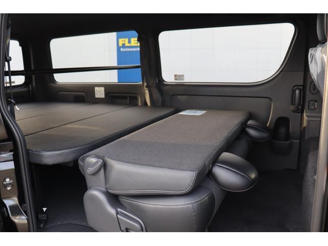 スーパーGL ダークプライムII 新車/ダークプライム2 クリーンディーゼル4WD/両側自動ドア オフロードパッケージ/ブラックエディション フルセグナビ/ビルトインETC 高さ調整式ベットキット プレステージLEDテール(21枚目)