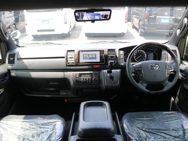スーパーGL ダークプライムII 新車/ダークプライム2 両側自動ドア フルセグナビ Delfino Lineフロントエアロ/オーバーフェンダー ワイルドディープス17インチAW グッドイヤーナスカータイヤ パノラミックビューモニター(11枚目)