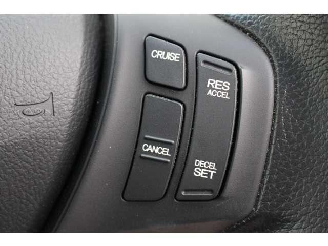 クルーズコントロールが装備されており、速度設定をするだけで一定の速度で走行が可能!一定速度の走行なので燃費の向上やアクセルペダルを踏む必要が無いので長距離ドライブが快適になります!