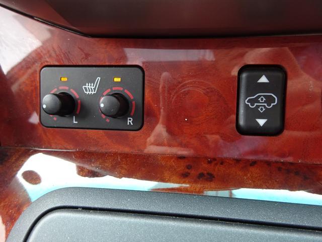 AIRS 4WD 黒革 大型サンルーフ 純正フルエアロ 純正ナビ 6連奏CD フロント・サイド・バックカメラ シートヒータ- エアサス ウッドコンビハンドル 電動テールゲート 純正18アルミ HID キーレス(38枚目)