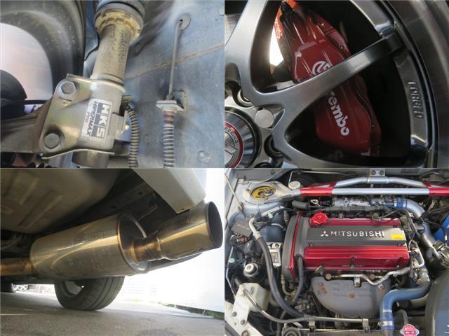 三菱 ランサー GSRエボリューションVIII 6MT エアロ車高調18AW