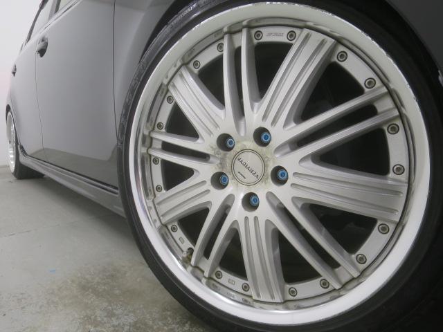 S ツインパノラマルーフ 3眼LEDヘッドライト フルエアロ TEIN車高調 WORK19インチAW 9インチナビBカメラ地デジ 黒革調シート ウッドコンビハンドル クルーズC ドラレコ ETC(6枚目)