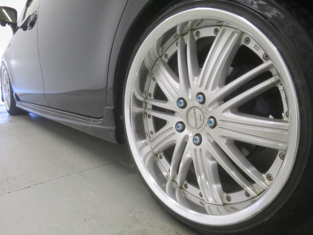 S ツインパノラマルーフ 3眼LEDヘッドライト フルエアロ TEIN車高調 WORK19インチAW 9インチナビBカメラ地デジ 黒革調シート ウッドコンビハンドル クルーズC ドラレコ ETC(10枚目)