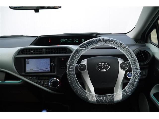 トヨタ アクア S フルセグSDナビ Bカメラ ワンオーナー LED