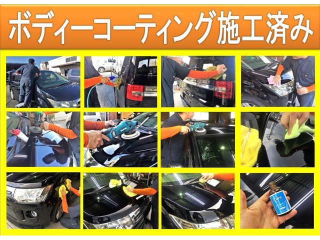 【大好評の理由!其の3】当店ではすべて商品車を専属の職人が念入りにコーティングを行っておりますので年式の割に艶のある外装に仕上がっております!