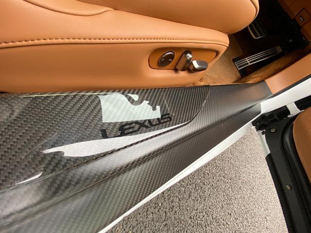 LC500 Sパッケージ ワンオーナー TRDエアロ 21インチAW ステアリングヒーター 3眼LED カーボンルーフ カラーHUD アクティブRスポイラー アルカンターラ茶革シート(20枚目)