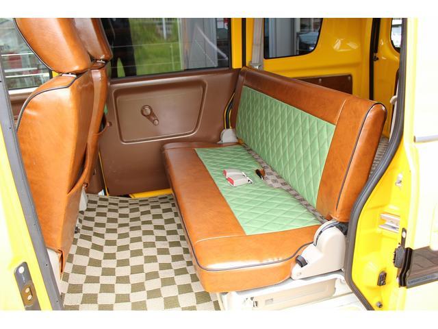 PA ブギーライダー GMCスクールバス仕様 マットブラック15インチAW 内装カラーリメイク オリジナルシートカバー FAKERステアリング CarrozerriaメモリーナビDTVBluethooth(16枚目)
