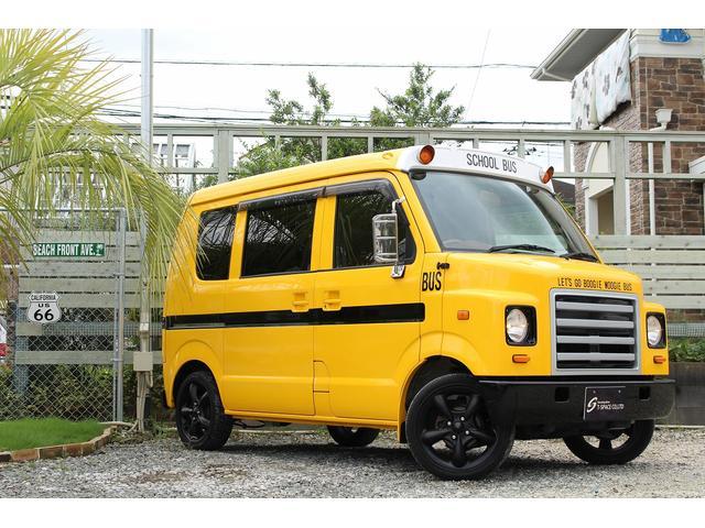 PA ブギーライダー GMCスクールバス仕様 マットブラック15インチAW 内装カラーリメイク オリジナルシートカバー FAKERステアリング CarrozerriaメモリーナビDTVBluethooth(56枚目)