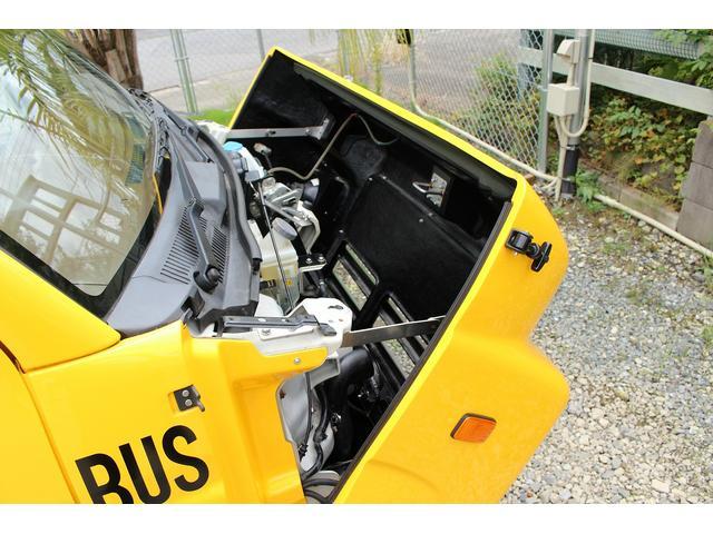 PA ブギーライダー GMCスクールバス仕様 マットブラック15インチAW 内装カラーリメイク オリジナルシートカバー FAKERステアリング CarrozerriaメモリーナビDTVBluethooth(69枚目)