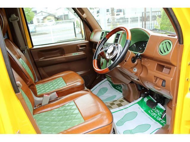 PA ブギーライダー GMCスクールバス仕様 マットブラック15インチAW 内装カラーリメイク オリジナルシートカバー FAKERステアリング CarrozerriaメモリーナビDTVBluethooth(73枚目)