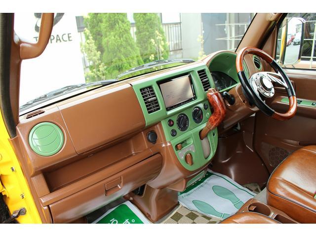 PA ブギーライダー GMCスクールバス仕様 マットブラック15インチAW 内装カラーリメイク オリジナルシートカバー FAKERステアリング CarrozerriaメモリーナビDTVBluethooth(76枚目)