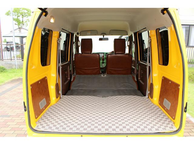 PA ブギーライダー GMCスクールバス仕様 マットブラック15インチAW 内装カラーリメイク オリジナルシートカバー FAKERステアリング CarrozerriaメモリーナビDTVBluethooth(78枚目)
