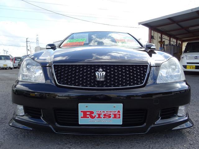 トヨタ クラウン アスリート60thSPEDエアロSR黒革HDD車高調19AW