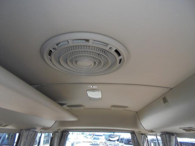 ロングカスタムターボ 26人乗り 左オートドア 冷蔵庫 バックモニター ディーゼルターボ 換気扇 エアサス 6MT NOx・PM適合 リクライニング・モケットシート(33枚目)