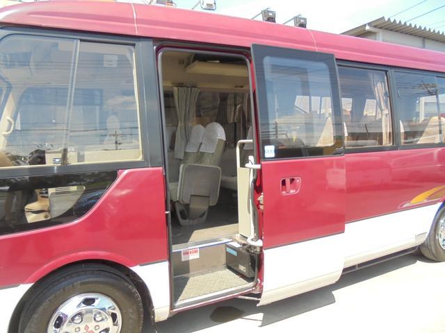 ロングカスタムターボ 26人乗り 左オートドア 冷蔵庫 バックモニター ディーゼルターボ 換気扇 エアサス 6MT NOx・PM適合 リクライニング・モケットシート(39枚目)