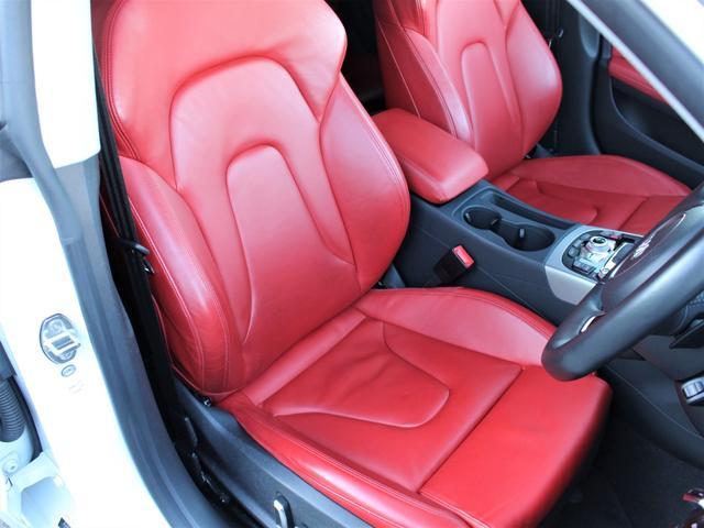 2.0TFSIクワトロ 赤革シート シートヒーター R19AW 禁煙車 リアスモーク バックカメラ 障害物センサー 純正MMIナビ ETC CD DVD SD Bluetooth TV(6枚目)