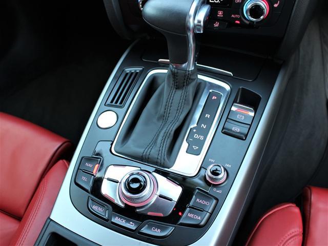 2.0TFSIクワトロ 赤革シート シートヒーター R19AW 禁煙車 リアスモーク バックカメラ 障害物センサー 純正MMIナビ ETC CD DVD SD Bluetooth TV(17枚目)