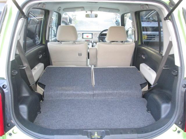 更に後席シートを倒せば大きな荷物、長い荷物も収納可能です!