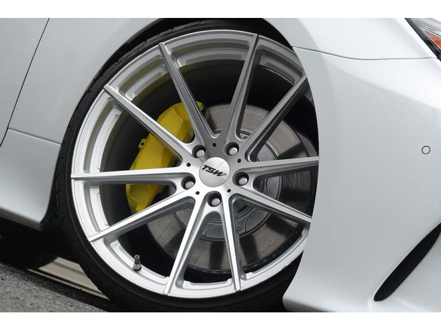 RC350 Fスポーツ レッドレザーシート 3眼LEDヘッドライト 新品ブリッツ車高調 TSWバサーストRF20インチ 前後メーガンレーシング調整式アーム スリーキャッツマフラー(3枚目)