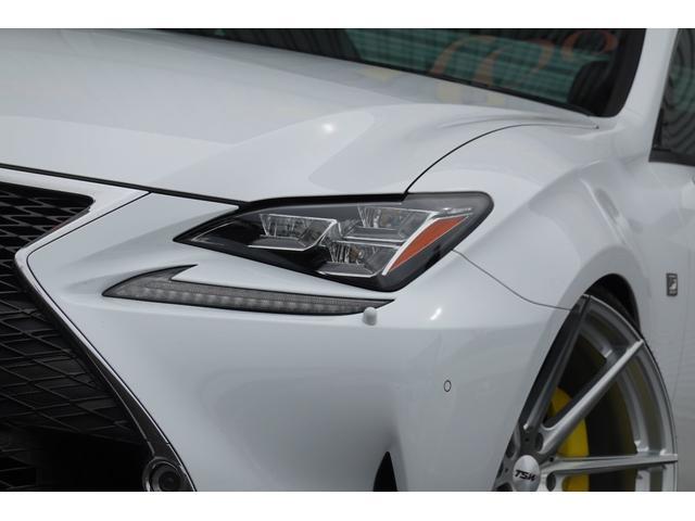 RC350 Fスポーツ レッドレザーシート 3眼LEDヘッドライト 新品ブリッツ車高調 TSWバサーストRF20インチ 前後メーガンレーシング調整式アーム スリーキャッツマフラー(5枚目)