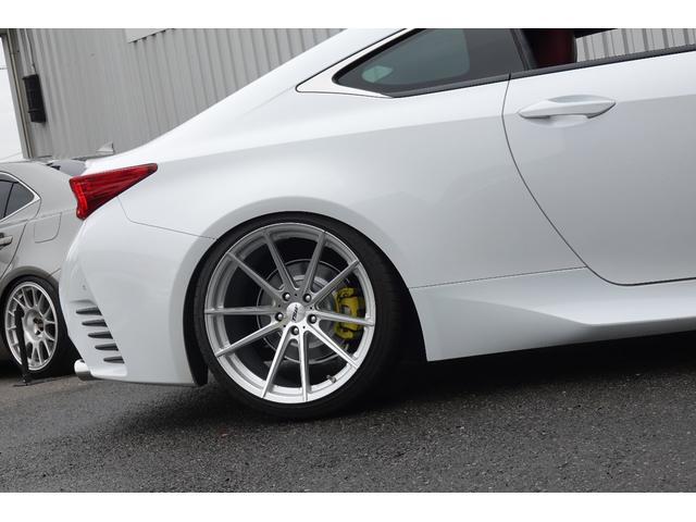 RC350 Fスポーツ レッドレザーシート 3眼LEDヘッドライト 新品ブリッツ車高調 TSWバサーストRF20インチ 前後メーガンレーシング調整式アーム スリーキャッツマフラー(11枚目)