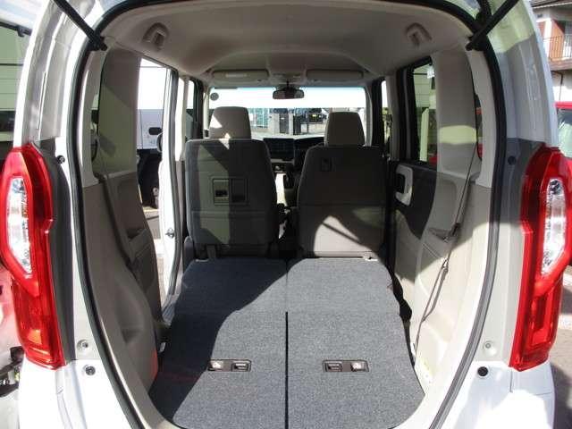 後席ダイブダウン機能で、より広い荷室も作れますよ!