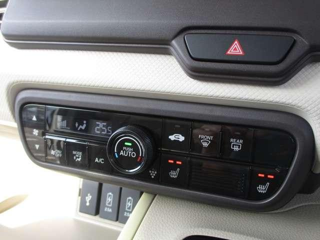 温度設定のみセットして頂ければ、車外気温に合わせて車内の温度を快適に保ってくれるオートエアコン機能付き!寒い時期に活躍するシートヒターも装備!