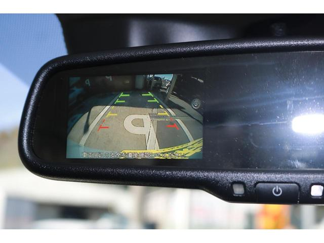 バックカメラ標準装備です。ミラーに後方の映像を映せばバックが苦手な方でも安心です。