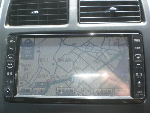 HDDナビ・TV・DVD/CD再生。http://www.classicauto-s.comストックヤードに保管している車もございますのでご来店前にお電話くださいTEL 0467-40-5367