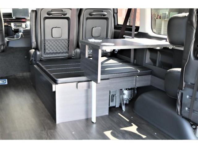 GL フレックスオリジナル内装架装Ver1木目柄フロア床張りフルセグ7インチナビフリップダウンモニターHDMIソケットUSB充電ソケットシートカバーローダウンアルミホイールグッドイヤーナスカータイヤ(8枚目)