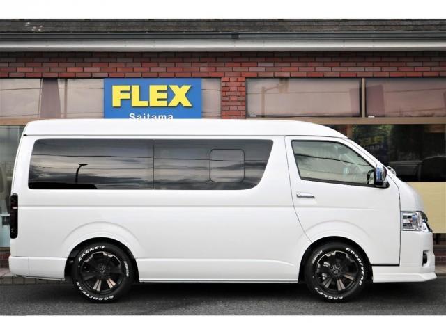 GL フレックスオリジナル内装架装Ver1木目柄フロア床張りフルセグ7インチナビフリップダウンモニターHDMIソケットUSB充電ソケットシートカバーローダウンアルミホイールグッドイヤーナスカータイヤ(17枚目)