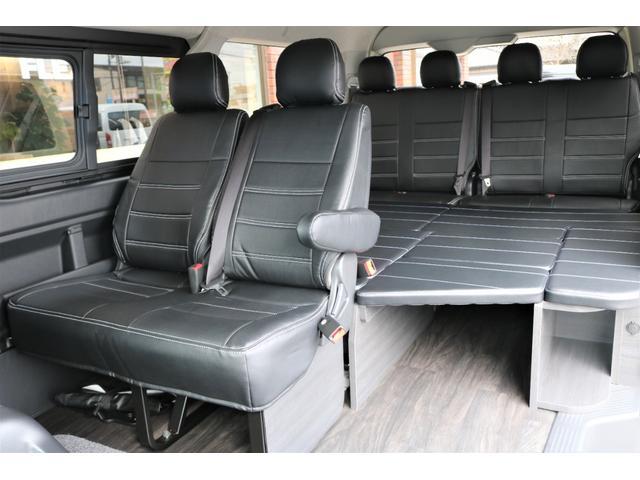 GL フレックスオリジナル内装架装Ver1木目柄フロア床張りフルセグ7インチナビフリップダウンモニターHDMIソケットUSB充電ソケットシートカバーローダウンアルミホイールグッドイヤーナスカータイヤ(49枚目)