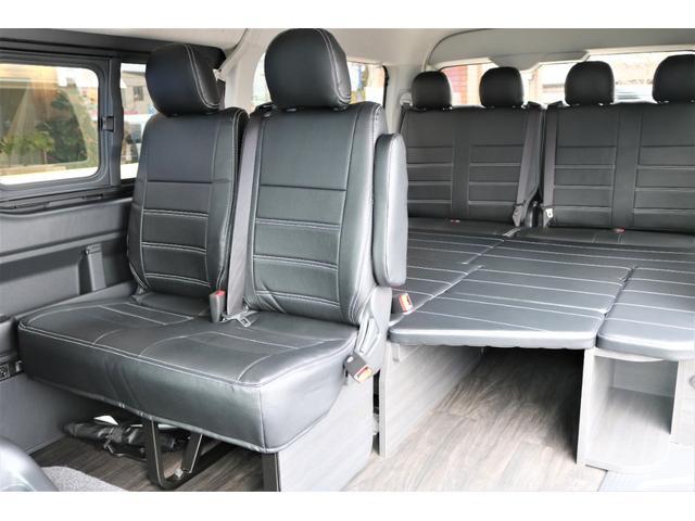 GL フレックスオリジナル内装架装Ver1木目柄フロア床張りフルセグ7インチナビフリップダウンモニターHDMIソケットUSB充電ソケットシートカバーローダウンアルミホイールグッドイヤーナスカータイヤ(50枚目)